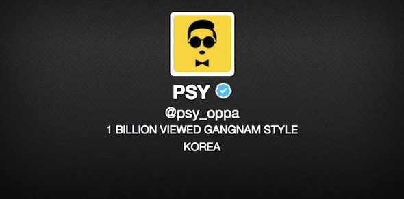 psy twitter avatar