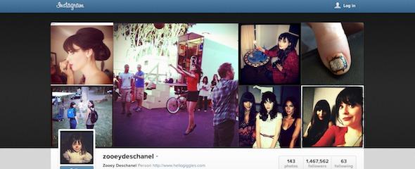 fashionista makin eksis dengan instagram - zooey deschanel instagram