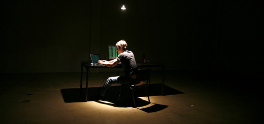 lone hacker in warehouse by brian klug_id geek girls blog