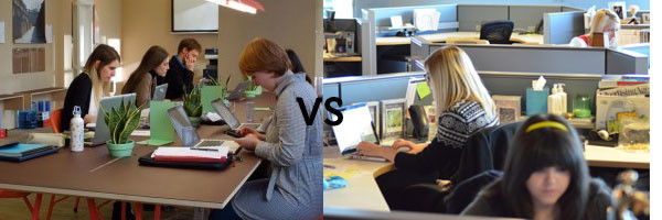 open office vs cubicle